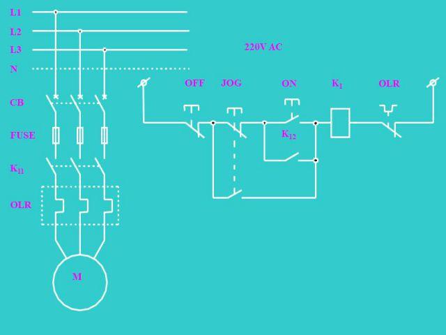 Minh họa động cơ điện ba pha có nháp